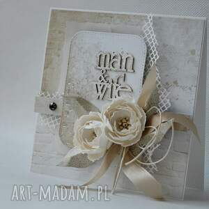 hand-made scrapbooking kartki ślub ślubna elegancja - w pudełku