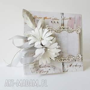 ciekawe scrapbooking kartki ślub ślubna elegancja - w pudełku