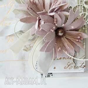 nietypowe scrapbooking kartki ślub ślubna elegancja - w pudełku