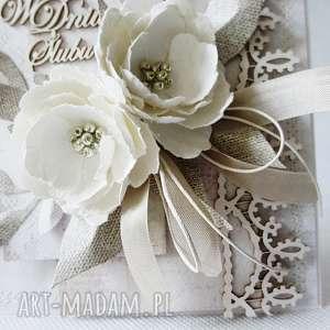 gratulacje scrapbooking kartki ślubna elegancja - w pudełku