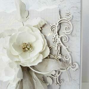 białe scrapbooking kartki ślub wyjątkowa i elegancka kartka okolicznościowa