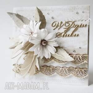 życzenia scrapbooking kartki ślubna elegancja - w pudełku
