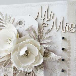 gratulacje scrapbooking kartki ślubna kartka w pudełku