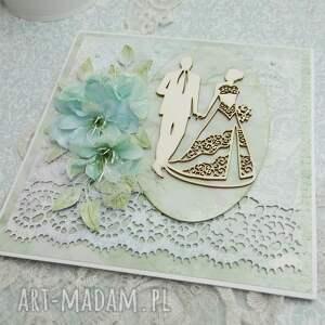 efektowne scrapbooking kartki ślub ślubna kartka z pudełkiem