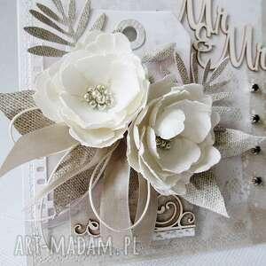 trendy scrapbooking kartki ślub ślubna kartka w pudełku
