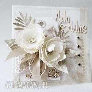 scrapbooking kartki gratulacje ślubna kartka w pudełku