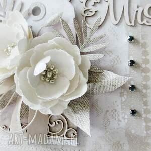 intrygujące scrapbooking kartki gratulacje ślubna kartka w pudełku
