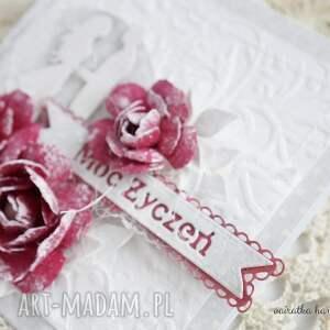 niepowtarzalne scrapbooking kartki kartka ślubna z różami