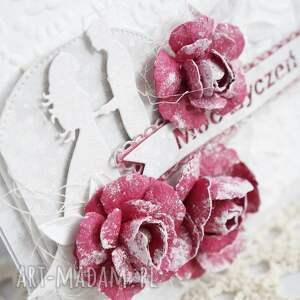 kartka scrapbooking kartki ślubna z różami