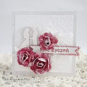 niepowtarzalne scrapbooking kartki ślub ślubna z różami