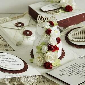 scrapbooking kartki kartka ślubny exploding-box z tortem -