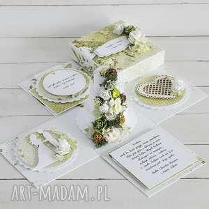 scrapbooking kartki prezent-ślubny ślubny exploding-box z tortem -