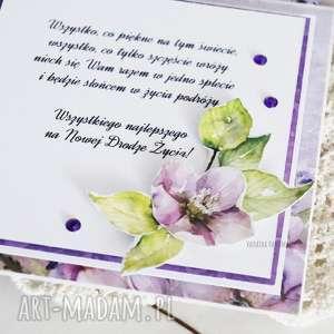 zielone scrapbooking kartki ślub ślubny exploding box z młodą parą