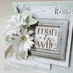 scrapbooking kartki: Ślubny szyk - w pudełku - podziękowanie gratulacje