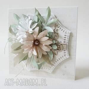 białe scrapbooking kartki ślub ślubny szyk - w pudełku