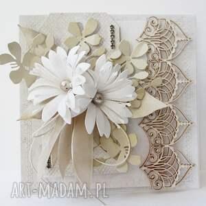 hand-made scrapbooking kartki ślub ślubny szyk - w pudełku