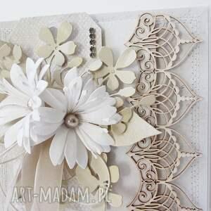 hand-made scrapbooking kartki rocznica ślubny szyk - w pudełku