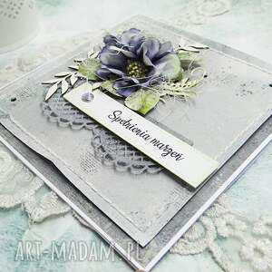 szare scrapbooking kartki urodziny spełnienia marzeń - kartka