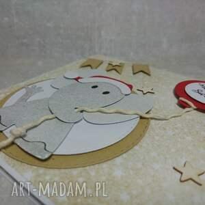 upominki na święta słonik świąteczny szczęście