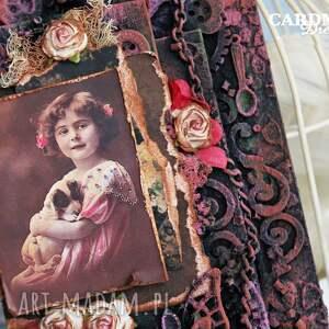 tag różowe tag vintage
