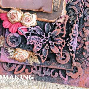 brązowe scrapbooking kartki zakładka tag vintage