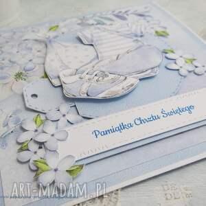 hand-made scrapbooking kartki chrzest ubranka - pamiątka chrztu św