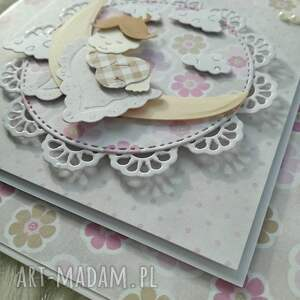 białe scrapbooking kartki urocza kartka