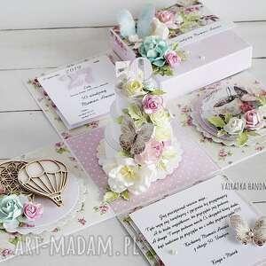scrapbooking kartki urodzinowy exploding box z tortem
