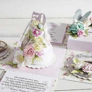 urodziny scrapbooking kartki urodzinowy exploding box z tortem