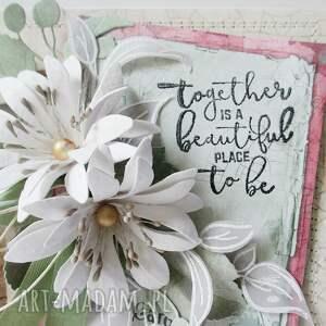 scrapbooking kartki mama kwiatowa - w pudełku