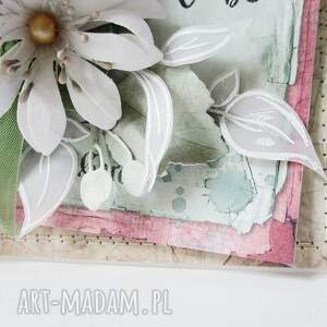 mama scrapbooking kartki kwiatowa - w pudełku