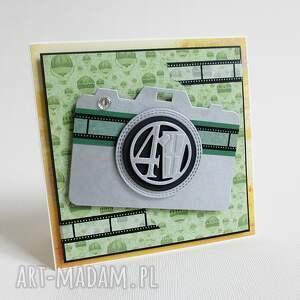 zielone scrapbooking kartki życzenia urodziny