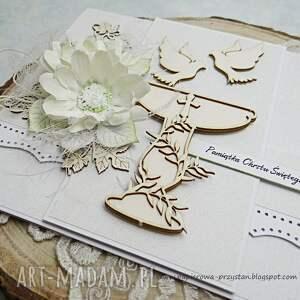 intrygujące scrapbooking kartki chrzest w bieli pamiątka chrztu