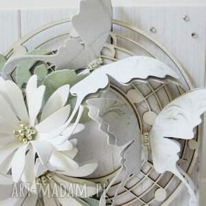 ręcznie zrobione scrapbooking kartki ślub w bieli - w pudełku