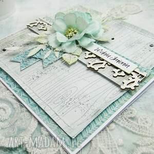 niebieskie scrapbooking kartki dla-ciebie w dniu imienin - kartka z