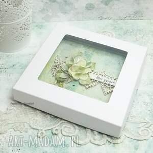atrakcyjne scrapbooking kartki na imieniny w dniu imienin - kartka z pudełkiem
