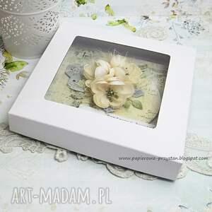 hand made scrapbooking kartki ślub w dniu imienin - kartka