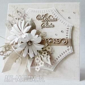 białe scrapbooking kartki ślub w dniu ślubu - w pudełku