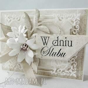 beżowe scrapbooking kartki ślub w dniu ślubu