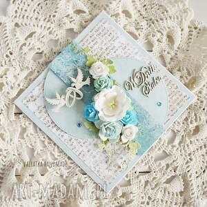 beżowe scrapbooking kartki kartka w dniu ślubu. Pudełku, 659