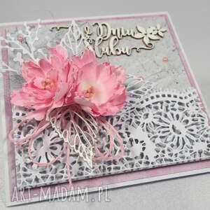różowe scrapbooking kartki kartka w dniu ślubu
