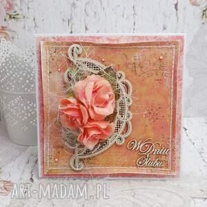 ślub scrapbooking kartki pomarańczowe w dniu ślubu - pudełku