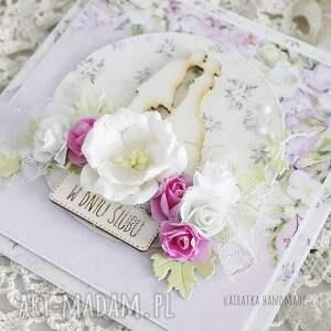 ślub scrapbooking kartki różowe w dniu ślubu, kartka pudełku, 609
