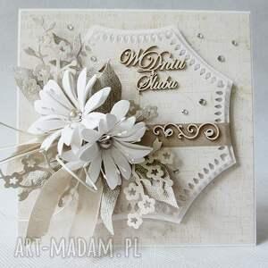 frapujące scrapbooking kartki ślub w dniu ślubu - w pudełku