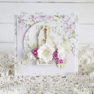 ręczne wykonanie scrapbooking kartki ślub w dniu ślubu, kartka pudełku, 609