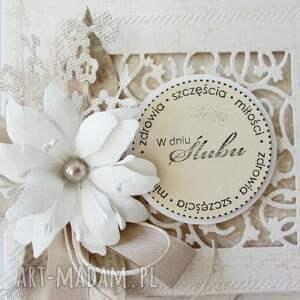unikalne scrapbooking kartki ślub w dniu ślubu - pudełku