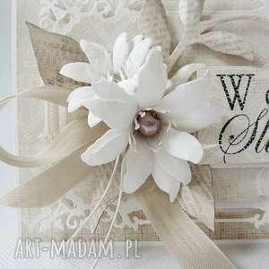 scrapbooking kartki życzenia w dniu ślubu