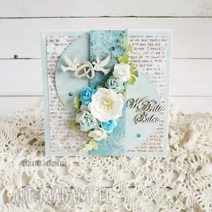 ślub scrapbooking kartki turkusowe w dniu ślubu. Kartka pudełku, 659