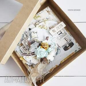 brązowe scrapbooking kartki kartka w dniu urodzin, pudełku