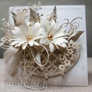 białe scrapbooking kartki ślub w koszu - kartka pudełku